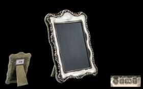 Silver Photo Frame. Lovely design and shape, hallmarked Sheffield 1993, maker ( R C ), 5.