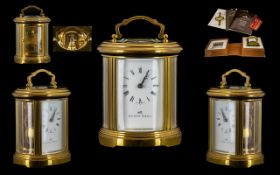Matthew Norman Nice Quality - Brass Carriage Clock, In As New Condition - Never out of Box.