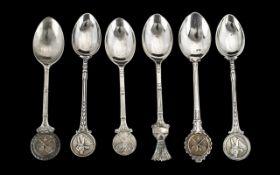 Badminton Interest - Six Vintage Spoons,