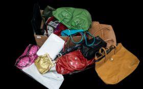Collection of Designer & Fashion Handbags including Osprey of London tan leather bag;