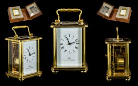 Matthew Norman Top Quality Brass Carriage Clock.