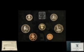 United Kingdom Proof Set 1985. Comes with a signed certificate by the sculptor Raphael Maklouf.