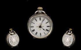 Silver Fob Watch.
