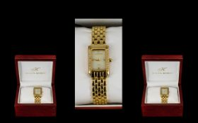 Klaus-Kobec Fashion Watches Ladies And Gents Gold Plated Matching Wristwatches,