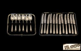 Set Of Six Silver Coffee Spoons Fully Hallmarked For Sheffield t 1936,