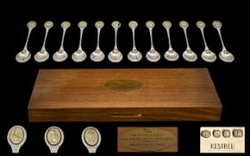 Royal Society for the Protection of Birds Sterling Silver Spoon Collection by John Pinches,