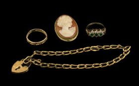 A Small Collection of 9ct Gold Jewellery (4 Items). All pieces fully hallmarked for 9.375.