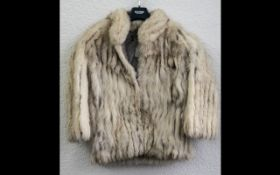 Ladies Silver Fox Jacket size 10, hip length,