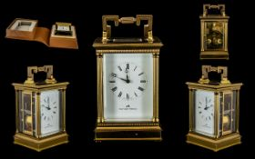 Matthew Norman Superb Quality - Large Brass Carriage Clock,