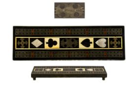 Regency Antique Cribb Gaming Board in the manner of George Bullock (1777 - 1818). Card game