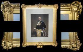 Masonic Interest - A Very Impressive 19th Century Gilt Frame depicting in each corner the