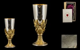 St Paul's Cathedral Royal Wedding - Limited & Numbered Edition Sterling Silver & Silver Gilt Goblet