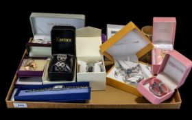 Collection of Fashion Watches & Costume Jewellery comprising a chrome stone decorated Monte Carla