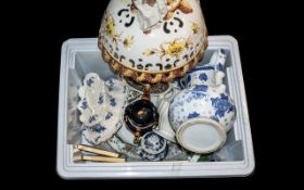 Mixed Lot of Ceramics to include two Toby Jug Teapots; Cheese Dish; Large Meat Plate;