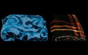 Two Velvet Scarves comprising an Anne Toomey long velvet scarf in double sided material and pattern