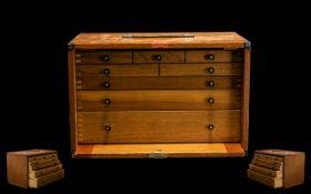 Enox Collectors Drop Leaf Oak Cabinet.