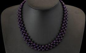 Amethyst Adjustable Choker/ Necklace/ Br