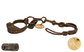 Slave Shackles. Early 19th century slave