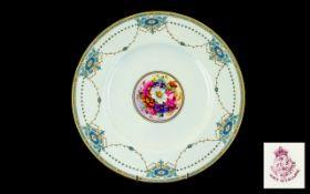 Royal Worcester Cabinet Plate Central Ha