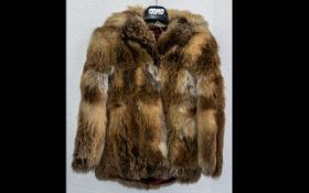 Ladies Red Fox Jacket size 10, hip lengt
