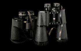 Pair of Binoculars in Leather Case - Vip