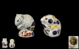 Two Royal Crown Derby Dormice from the R