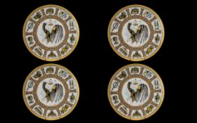 Two Pairs of Goebel Traditions Plates wi