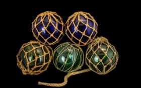 Collection of Five Victorian Witch Balls