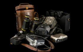 Cameras - Suitcase Containing Fujica, Fu