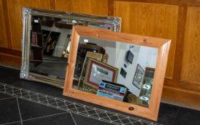 Modern Gilt Framed Mirror with decorativ