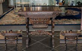Regency Colonial Antique Rosewood Sewing
