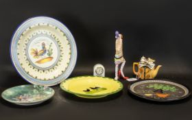 Collection of porcelain wall plates incl