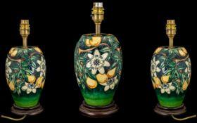 Moorcroft Tubelined Nice Quality Lamp Ba
