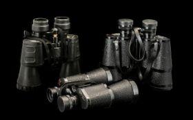 Three Binoculars In Cases ' Kura-Japan '