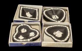 Wedgwood Set of Black Jasper Card Suite