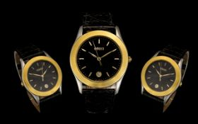Gucci - 530M Mens Gold on Steel Wrist Wa