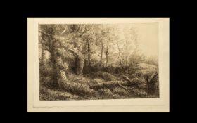 Alophonse Legros (1837-1911) Etching. A