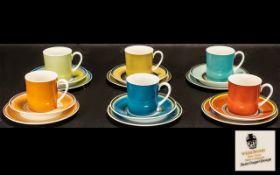 Wedgwood Susie Copper Design set of six