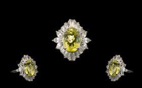 Ouro Verde Quartz and Topaz Statement Ri