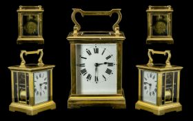English - Heavy Brass Carriage Clock wit