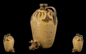 Art Pottery Large Cider Barrel, Unusual