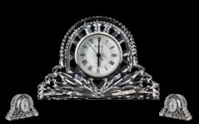 Waterford Crystal Mantle Clock. Good siz