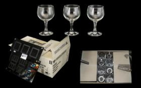 Collection of Paris Glass Goblets and Wi