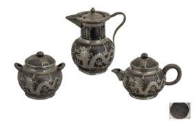 Chinese - Shanghai ( Black ) Pottery Thr