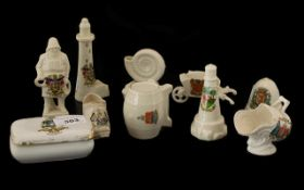 Collection of 10 Souvenir Pottery Items
