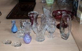 Collection of Glassware to include cranb