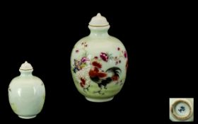 Chinese Famile Rose Decorated Porcelain