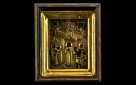 Mikhail Milailovich Karpinsky Greek Orthodox Icon Depicting Christ and the Apostles on a wood panel