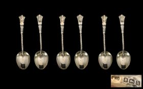 A Collection of Six Silver Tea Spoons Birmingham. 1912.