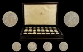 Birmingham Mint - A Complete Set of Uncirculated/ Proof Struck sterling Silver Medallions